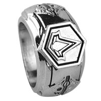 Wholesale vintage meters - Punk Rings For Men Vintage Game Fans Jewelry Assassins Creed Cospaly Rings Dia Meter 1.9cm 6