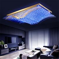 Wholesale fashion modern chandelier resale online - Modern Fashion K9 Crystal LED Ceiling Lamp Mirs Wings Chandelier Living Room LED Pendant Lights Lighting Fixture