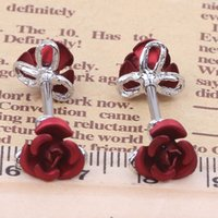 Wholesale Rose Nipple Rings - Nipple Bar Stainless Steel Barbell Piercing Rose Flower Nipple Ring Bar Body Jewelry wholesales 10pcs