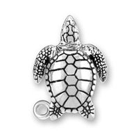 Wholesale Sea Turtle Charms Wholesale - 100pcs lot zinc alloy antique silver plated sea turtle animal good moral charms