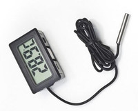 Wholesale Digital Panel Thermometer - Digital LCD Thermometer For Aquarium Freezer H155 New Modeling simple, elegant, LCD panels inline connections