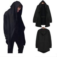 Wholesale High Wizard - Fashion High Street Men's hip hop jacket Black Spring and Autumn long cardigan wizard Hoodies cloak cape coat Men Boy M-5XL