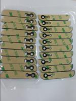 iphone alt cam toptan satış-DHL Kargo 100 adet Orijinal Yeni iPhone 5 5G Için 5 S TopBottom Cam Arka Kapak Cam + 3 M yapışkan Sticker + Kamera Lens + Flaş Difüzör