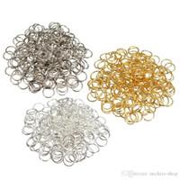 schmuck metall finden groihandel-Das beste Preis-Großverkauf DIY Schmucksachen, die 300PCS 3 Farben mischen Metall Jumping 0.7x8mm Ringe Komponenten-Uhr-Reparatur-Werkzeug glitter2008