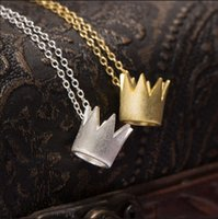 Wholesale Temperament Queen Necklace - New silver necklaces Queen Crown pendant Necklace Korean 925 Silver temperament necklace for birthday gifts free shipping