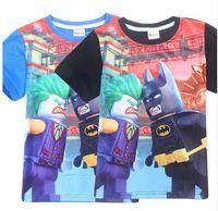 Wholesale boys batman tops - Summer Boys T Shirts Batman Joker Print Tops Tees Children's T-shirts Baby T Shirts Kids Clothes Cartoon Children Clothing