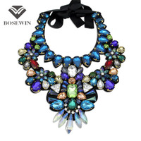 Wholesale bijoux tibet for sale - Women Luxury Handmade Crystal Big Necklace Multicolor Glass Bead Collar Fashion Choker Necklaces Statement Jewelry Bijoux femme