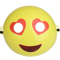 Wholesale decor dress online - Cartoon Emoji Mask Cartoon Funny Small Full Face Masks For Kid Toy Costume Dress Birthday Decor Party Supplies lm F R