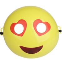 komik çizgi film maskeleri toptan satış-Karikatür Emoji Maske Karikatür Komik Küçük Tam Yüz Maskeleri Çocuk Oyuncak Kostüm Elbise Doğum Günü Dekor Parti Malzemeleri Için 1 9lm F R