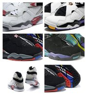 Wholesale Air Aqua - High Quality Air Retro Alternate AQUA 8s RELEASE 8s BG GS THREE-PEAT 8s sneakers basketball shoes Sports shoes For Men and Women