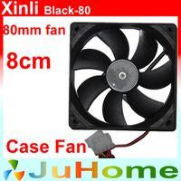 Wholesale Quiet Power Supplies - Wholesale- 80mm, 8cm fan, case fan, Black, quiet, for power supply, for computer Case, Computer fan, Computer cooler, Xinli Black_8025