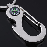 Wholesale best bottle opener ring for sale - Group buy NEW OutDoor Promotions Keychain key ring chain bottle opener compass for Best Boy Girl Gift