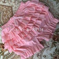 Wholesale Cotton Bloomers For Women - Best Seller Summer Red Dot Cotton Ruffler Lolita bloomers all-match Pumpkin Shorts For Ladies