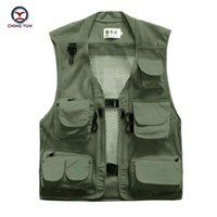 Wholesale Photography Works - Fall-2016 New Man Good Quality Quick drying Hot sale Vest Men Outdoors Casual Waistcoat Man Vest sleeveless Working Photography Vest