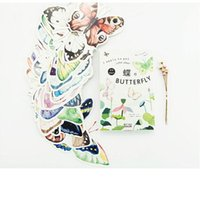 Wholesale pack Vivid Colorful Butterfly Greeting Card Postcard Birthday Letter Envelope Gift Card Set Message Card