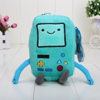 Wholesale Toy Stuffing Machine - In Stock 12CM Cartoon Adventure Time with Finn and Jake BMO Plush toy Jake and Finn friend game machine BMO Stuffed dolls