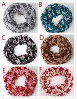 Wholesale Cheap Chevron - 50pcs Fashion cheap Chevron Wave Print Scarf Circle Loop Infinity Scarves Women Pattern Multi color printing Voile Stripe Ring F404