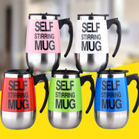 Wholesale Mug Automatic - Self Stirring Coffee Cup Mugs Electric Coffee Automatic Electric Travel Mug Coffee Mixing Drinking Thermos Cup mixer WX-C41