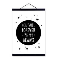 Wholesale picture framing quotes - Modern Black White Mountain Typography Love Quote Wooden Framed Canvas Painting Home Decor Wall Art Print Pictures Poster Hanger