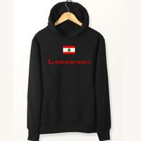 kıyafetler için fırçala toptan satış-Lübnan bayrağı hoodies Ülke maç ter gömlekler Polar giyim Kazak ceket Açık spor ceket Fırçalı tişörtü
