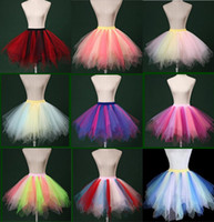 Wholesale Mix Color Tutu - Mixed Color Petticoats Colorful Tutu Tulle Skirts 12 Styles Plus Size Petticoats For Wedding Dresses XL XXL Free Shipping