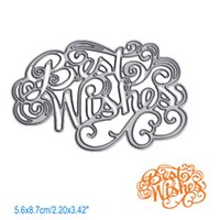 Letter Best Wishes DIY Metal Cutting Dies Stencil Scrapbook Card Album Paper Embossing Crafts