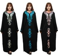 Wholesale Embroidery Muslim Dress Abaya Kaftan - New arrived Turkish women clothing abaya Muslim Dresses Garments Islamic Clothing For lady Dubai Kaftan Jilbabs Embroidery Abayas Maxi Dress