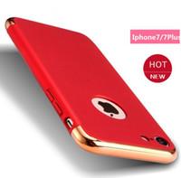 orijinal iphone kopyası toptan satış-Yeni iPhone için iPhone7 7Plus için Orijinal Kopya Ultra İnce İnce Geri Hard Case sert Kapak Metal mat PC durumda 2in1 geri durumda