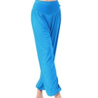 Wholesale cotton spandex yoga pants online - New Women s Cotton Spandex Wide Leg Lounge Yoga Pants Workout Leggings Loose Pants