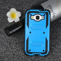 Wholesale Dual Layer Holster Case Galaxy - For Samsung Galaxy J7 J5 J3 J1 2016 G530 G360 Colorful Kickstand Belt Clip Shell Combo Holster Dual Layer Defender Hybrid Fashionable Case