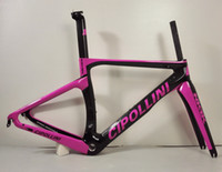 Wholesale Carbon Race Frame - 2016 black red yellow white pink Cipollini NK1K RB1k T1000 3K racing full carbon fiber road frame bicycle complete bike frameset RB1000