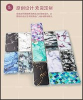 Wholesale Cheap 5s Cases - Wholesale Free DHL Cheap Marble Stone Printed Creative Case Soft TPU Relief Back Cover Skin for iPhone 6 6s Plus 5 5s SE
