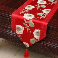 Wholesale high quality coffee tables resale online - High Quality Lengthen Patchwork Jacquard Table Runner Luxury Fashion Simple Coffee Table Cloth Dining Table Mats Protective Pads x33 cm