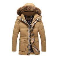 Wholesale Raccoon Hair - Fall-Of the 2016 men long raccoon heavy hair down jacket Fashionable and high quality