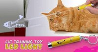 brinquedos para animais de estimação venda por atacado-Criativo e engraçado Pet Cat Toys LED Caneta Laser Pointer Light Com Brilhante Animação Mouse