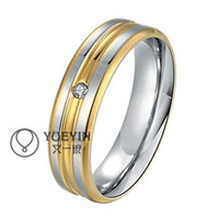 768426c17fb Classic Wedding Band Couple Ring With 18K Stamp Quality 18K Gold Silver Plated  Women Men Rings Jewelry R100