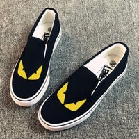 Wholesale Hand Painted Slip Sneakers - New Arrival Cartoon Monster Hand Painted CanvasShoes,OutdoorLeisureFashionSneakers,UnisexCasualShoes Hot Items Lovely Cute