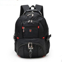 Wholesale Multifunctional Style Women Backpack - Wholesale- Top quality Swiss Multifunctional laptop bag Backpack for 15.6 inch laptop Schoolbag Travel Bags 8112