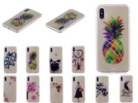 Wholesale skull phone iphone cases - Flower Skull Soft TPU Case For Iphone X Galaxy (J7 J5 J3)2017 Butterfly Dog Silicone Bear pineapple Sexy Girl Lady Clear Phone Cover Skin