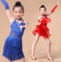 Wholesale Samba Dancing Clothes - Girl Child Children Dance Dress For Girls Cha-Cha Samba Kid Latin Dress Kid Dancing Clothing Girl Dancewear Kid Latin Costume