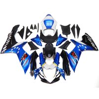 Wholesale Blue Fairing Kit For Suzuki - Complete Fairings For Suzuki GSXR600 GSXR750 K11 2011 2012 2013 2014 2015 Injection ABS Motorcycle Fairing Kit Cowling White Blue Stars New