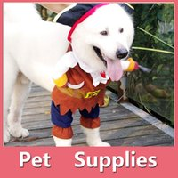 Wholesale Captains Coat - Halloween Costumes Pet Dog Clothes Pirate Captain Puppy Pet Cat Clothing Apparel Cosplay With 4 Size