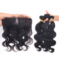 Wholesale machining parts products - New Product Body Wave Human Hair Bundles With Lace Frontal 4pcs lot Free Part Ear to Ear Lace Frontal With Bundles Cheap Price
