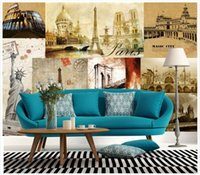 Wholesale 3d Puzzles Chinese House - High end Custom 3d photo wallpaper murals wall paper Retro to do the old building puzzle 3D living room wallpaper background wall home decor
