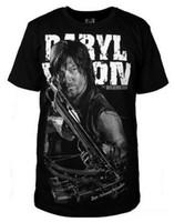 wanderhemden großhandel-The Walking Dead 4 Daryl Cosplay Männer Sommer Kurzarm T-Shirt Cotton Plus Size