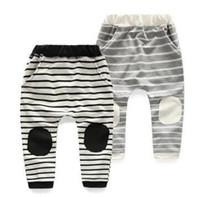 Wholesale trousers patch - Boys Pants Fashion Patch Harem Pants Autumn Casual Children's Striped Trousers Kids Cotton Pants 5 p l