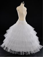 Wholesale Gowns Accessories Designs - Unique Design Three Hoops Tired Tulle Wedding Petticoat White Ball Gown Bridal Accessory Underskirt Half Slips Bridal Petticoat PT07