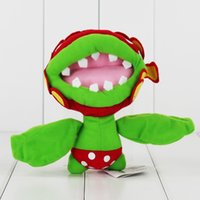 Wholesale Super Mario Flower - Super Mario Piranha 16cm Plush Doll Toy Piranha plant flower for kids gift toy free shipping retail