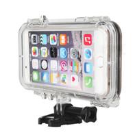 iphone caso de surf al por mayor-Cubiertas impermeables de la bolsa de la cubierta de Smartphone de la natación subacuática IP68 que practican surf con la lente ancha del ángel de 170 grados para el iPhone 5 5s SE
