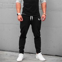 Wholesale Aesthetics Bodybuilding - High Quality Fitness Men Gyms Jogger Bodybuilding Drawstring Pencil Pants Autumn Weightliftting Clothes Aesthetics Muscle Wear